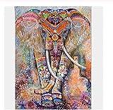 HWYLOVE Puzzles Madera Rompecabezas 1000 Piezas,Alivie el estrés Juego Adulto Elefantes de Colores DIY Decoraciones para el hogar Decoración Moderna para el hogar únicos