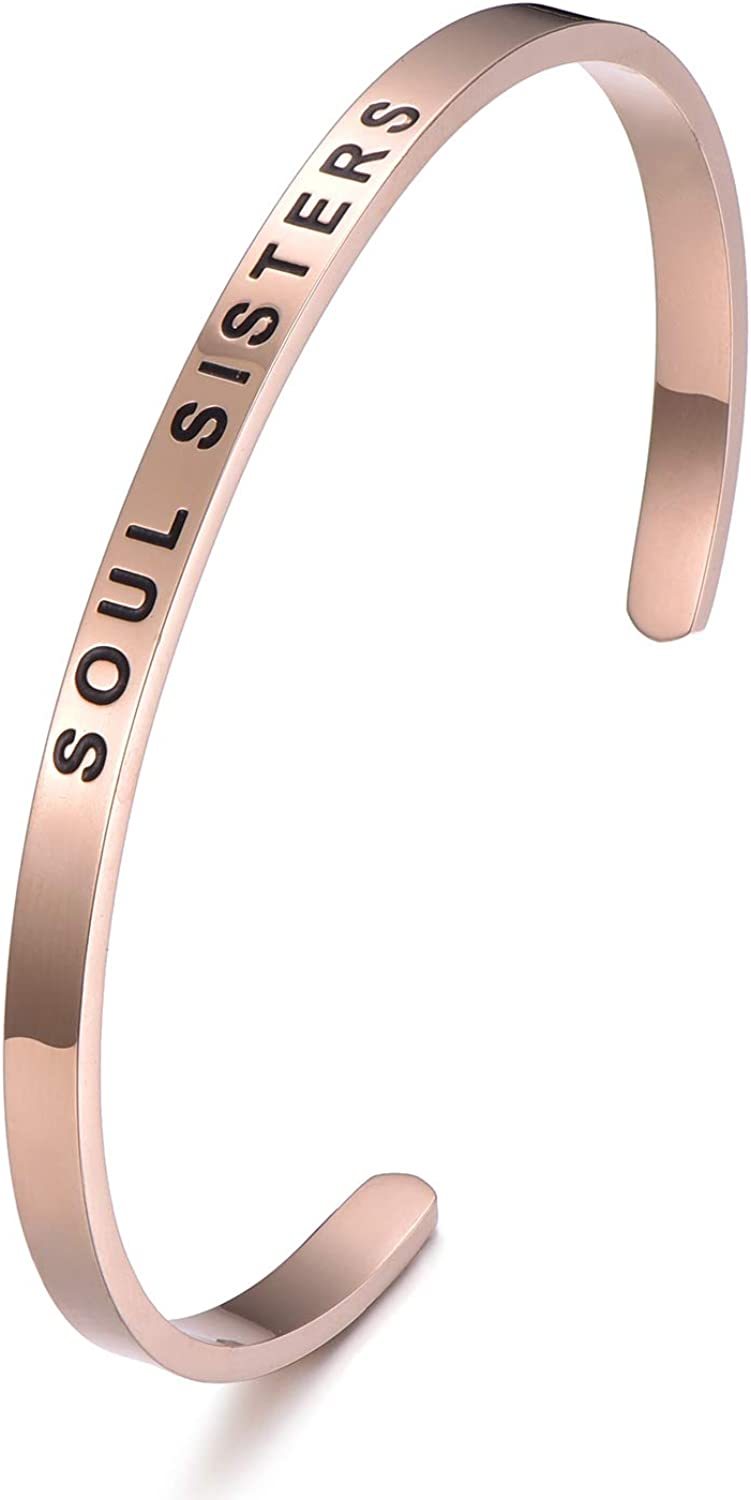 Mantra New Free Shipping Quote Minneapolis Mall Bracelet - Soul Inspirational Sisters Ad Engraved