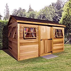 Cedarshed Shed 9' x 6' Beach House Garden Shed - Best She Shed Kits