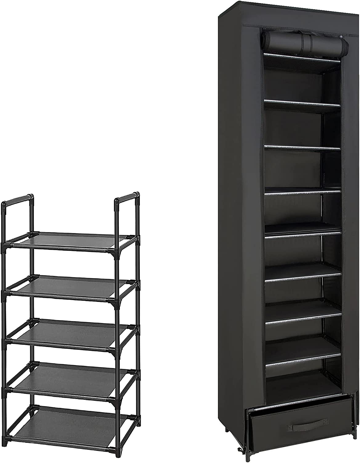 safety NEW before selling Shoe Rack Sturdy Metal Narrow S Organizer
