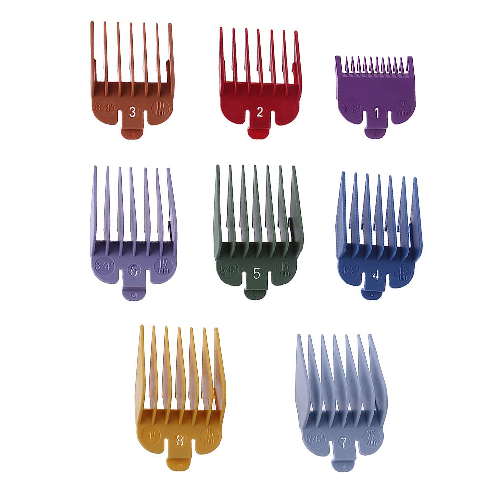 siwetg 8P Universal Hair Clipper Limit Peine Guide Attachment Size ...