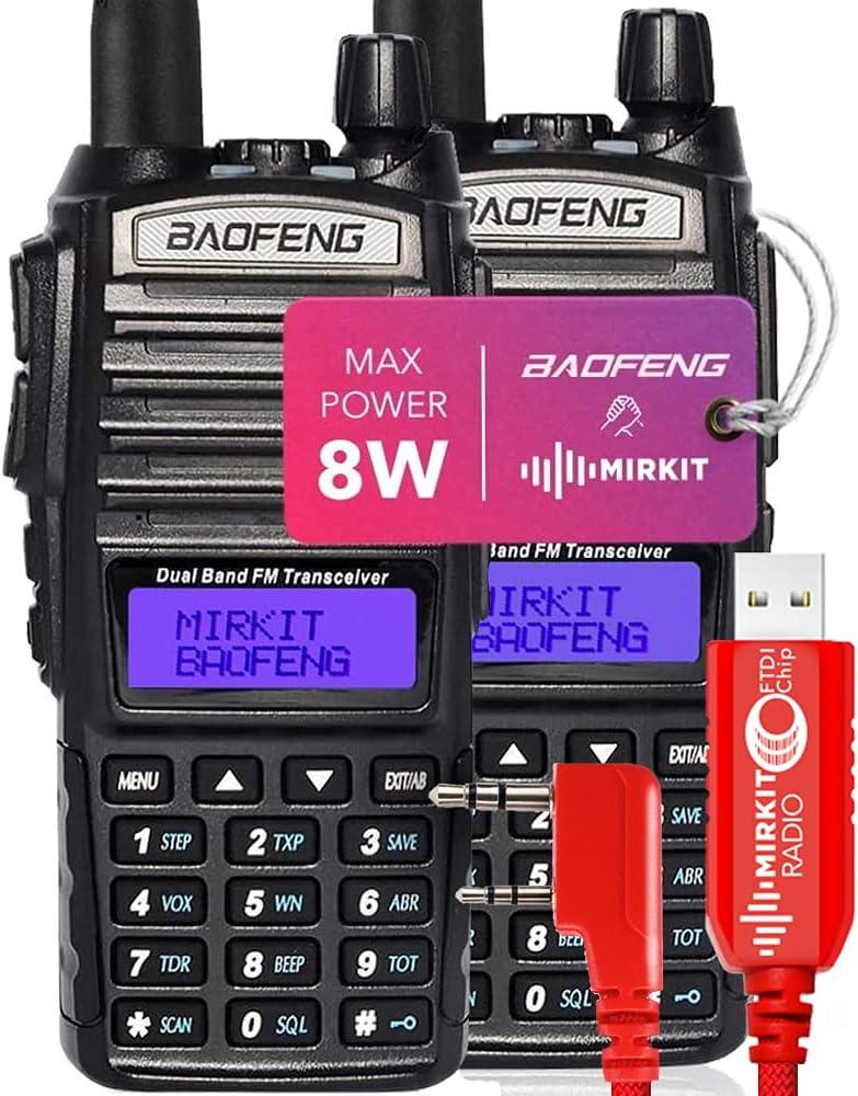 Mirkit 2Ð¥ Ham Radios BAOFENG UV-82 8 Watt Very popular MK5 2021 Power Max Superior
