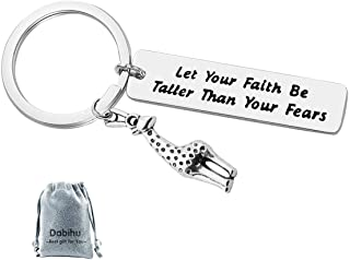 Giraffe Gift Key Chain Let Your Faith Be Taller Than Your Fears Spiritual Themed Keychain Gift for Religious, Inspirationa...