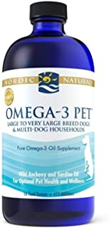 Nordic Naturals Omega 3 Pet - Fish Oil Liquid for Cats and Dogs, Omega-3s, EPA and DHA Supports Skin, Coat, Joint and Over...