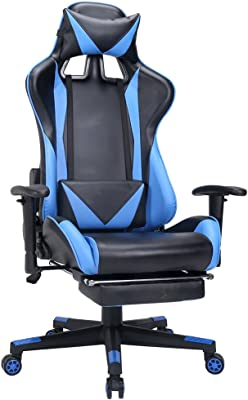 Amazon.com: Computer Gaming Leather Chair, E-Sports Larger ...