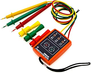 Bestdo SM 852B 3 Phase Sequence Rotation Tester LED Indicator Detector Checker Meter