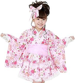 天使のドレス屋さん 浴衣 可愛さ際立つ和柄&レースの浴衣ドレス5点セット