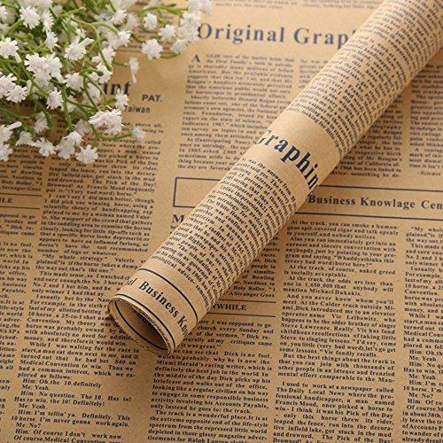 Rosepoem Blumen-Verpackungspapier Geschenkpapier Ornament Strauß 4 Farbe Vintage