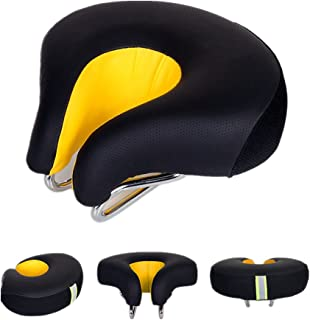 UNISTRENGH Bike Saddle Seat No Nose MTB Mountain High Resilience Bicycle Seats Comfortable Ergonomic Cycling Pad Cushion