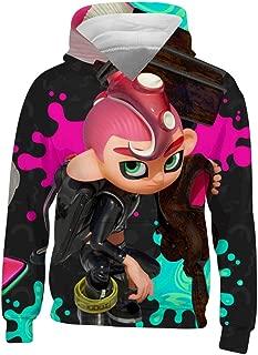 Blueccat Pink Spla-toon 2 Octopus Youth Hoodie Kids Sweatshirt 3D Graphic Long Sleeve Warm Winter Clothing