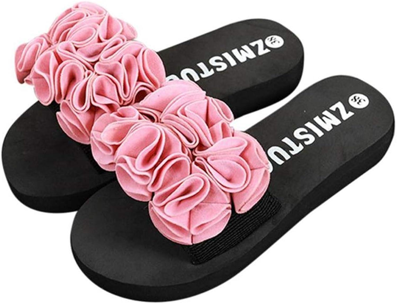 Btrada Girls Flip Flops Sandals Women Flower Summer Sandals Indoor Outdoor Flip-Flops Beach Slipper