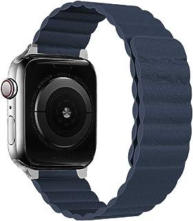 iBazal Paski do zegarków kompatybilne z iWatch serii 5 4 pasek 44 mm skóra 42 mm seria 3 2 seria 1 paski męskie magnetyczn...