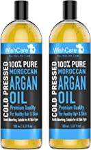 WishCare® 100% Pure Cold Pressed & Natural Moroccan Argan Oil - for Dry and Coarse Hair & Skin | Combo Pack of 2 (100 Ml each)