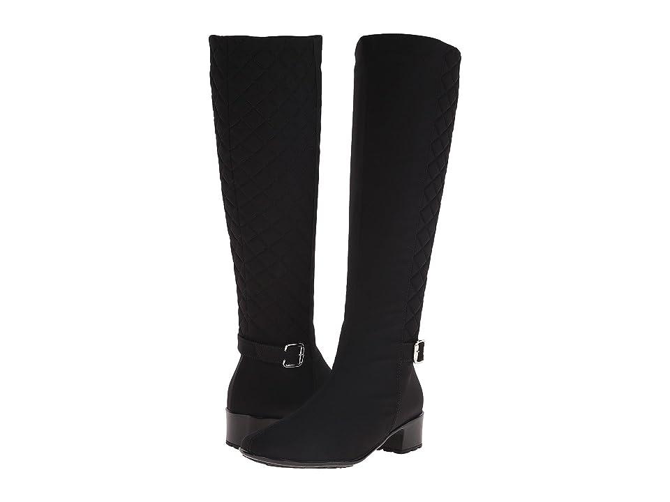 Sesto Meucci Yola (Black Micro Fabric/Black Quilted Micro Fabric) Women