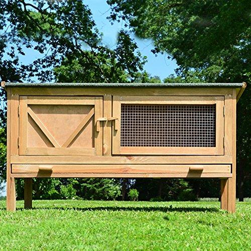 """ZooPrimus Kleintier-Stall Nr 24 Kaninchen-Käfig """"HASI"""" Meerschweinchen-Haus für Außenbereich (Geeignet für Kleintiere: Hasen, Kaninchen, Meerschweinchen usw.) - 3"""