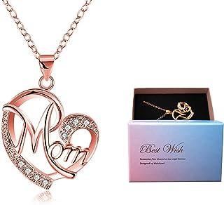 Regali Festa della Mamma, Deesos Collana miglior regalo per il compleanno della mamma cuore diamante collana pendente per ...