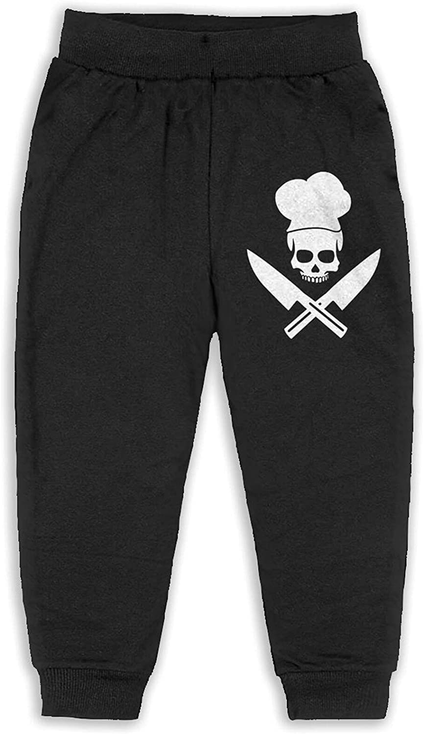 Skull-Chef Cooking Skull Baby Boy Toddler Boys'Cotton Jogger Cuff Pants 2t-6 (5-6 Years)