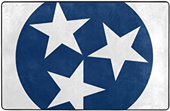 MALIou Area Rug 5'x3'3 Tennessee Tri Star Flag Soft Floor Carpets Non-Slip Area Rugs Doormats for Bedroom Living Room Home Decor