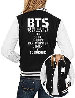 Jaqueta College Feminina Kpop BTS Integrantes BTS Nomes ER_093