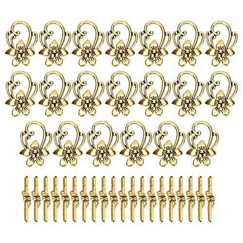 Broche de palanca de pulsera, juegos de broches de pulsera Aleación 20 juegos para decorar ropa Zapatos para accesorios de joyería