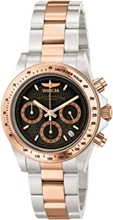 Invicta 6932 Speedway Professional Collection reloj de acero inoxidable chapado en oro rosa de 18 quilates para hombre