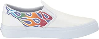 Vans Unisex Classic Slip-ON (Sparkle Flame) Rainbow/True White
