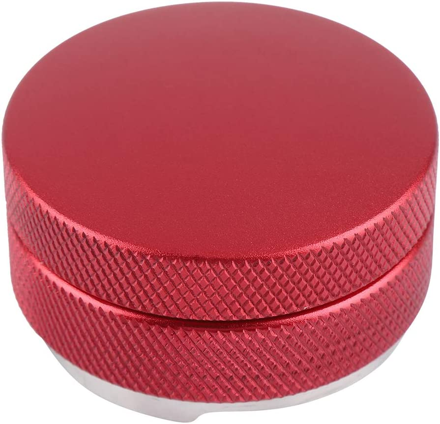 Stainless Steel Smart Coffee Tamper 58mm Base With Three Angled Slopes Red