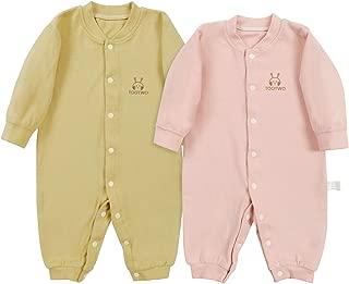 Newborn Baby Onesies Baby Boys Girls Pajamas Soft Cotton Long-Sleeve Sleep Baby Boy Girl Clothes Bodysuit Pack of 2