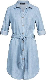 Styleboom Fashion/® Damen Kleid Cocktailkleid Adjustable Wrapped Strap Dress/Navy blau