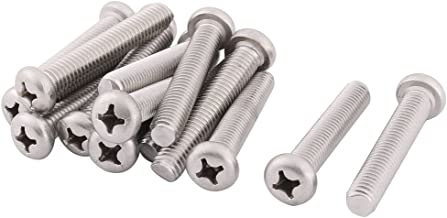 uxcell® 304 Stainless Steel Office Furniture Cabinet Chair Hardware Machine Bolts M8 x 45mm 15 Pcs
