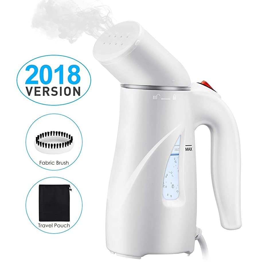 PICTEK Steamers for Clothes, [New Version]?Fast Heat-up Handheld Travel Garment Steamer, Compact Portable Wrinkle Remover Fabric Steamer with Automatic Shut-Off, Pouch for Travel, Home, Office, 110ml