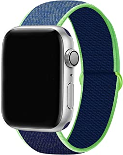 YC YANCH Sport Loop Compatible with Apple Watch Band 38mm/ 40mm/ 42mm/ 44mm, Breathable Soft Nylon Wristband Strap Replace...