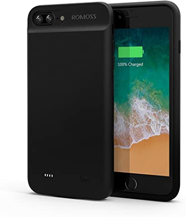 ROMOSS iPhone 7 Plus Battery Case, Compact Extended Battery Case for iPhone 7 Plus (5.5 inch) with 3800mAh Capacity (Black)