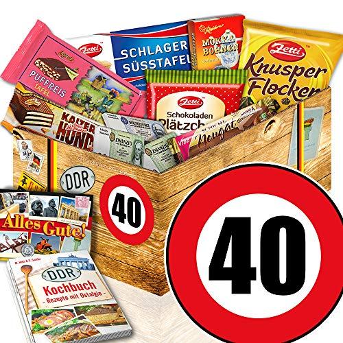 Geschenk 40. Geburtstag / DDR Schoko Geschenkbox / 40 Geburtstag Geschenke Mann