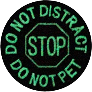 Glow in Dark Service Dog Do Not Distract Do Not Pet Vests/Harnesses Emblem Embroidered Fastener Hook & Loop Patch