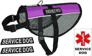 """Dogline N0253-9-0210 Service Dog Vest Harness, X-Large/30"""" x 38"""", Purple"""