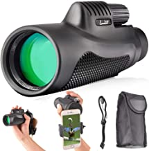 Landove 10X42 High Power Monocular-Single Hand Focus and Waterproof Fog-Proof Scope with Quick Set Phone Holder-for Hunting Bird Watching Camping Hiding and Other Outdoors