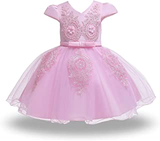 HUAANIUE Baby Toddler Girls Pageant Wedding Dresses Birthday Party Baptism Gowns
