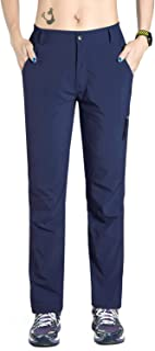 Nonwe Women's Outdoor Quick Dry Hiking Pants Blue Granite S/29 Inseam