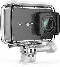 YI 4K+ -  Cámara de Acción / Deportiva de 4K/60fps de pantalla táctil de 2.2 pulgadas con lente de ángulo amplio, carcasa impermeable, negro