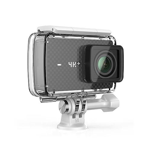YI 4K+ Caméra d'action avec Boîtier étanche 4K/60fp - Capteur Sony IMX377 - 12MP RAW Image - EIS - Ecran Tactile 2.2'' - Commande Vocale - Diffusion en Direct Noir