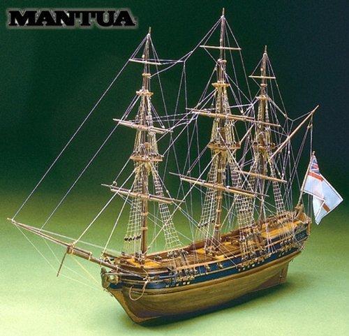 マンチュア社 木製帆船模型キット プレジデント(木製模型ツールセット 60分の帆船模型製作入門DVD付属及び資料集付属)MT0792MC01