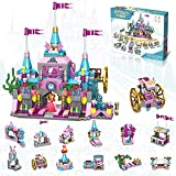 STEM Dream Castle Toys for 6 7 8 9 10+ Year Old Girls Princess Castle Construction Toys 25-in-1 Pink Palace Brick Toys Educational Toys for Kids Building Blocks Kit Gifts for Birthday Christmas
