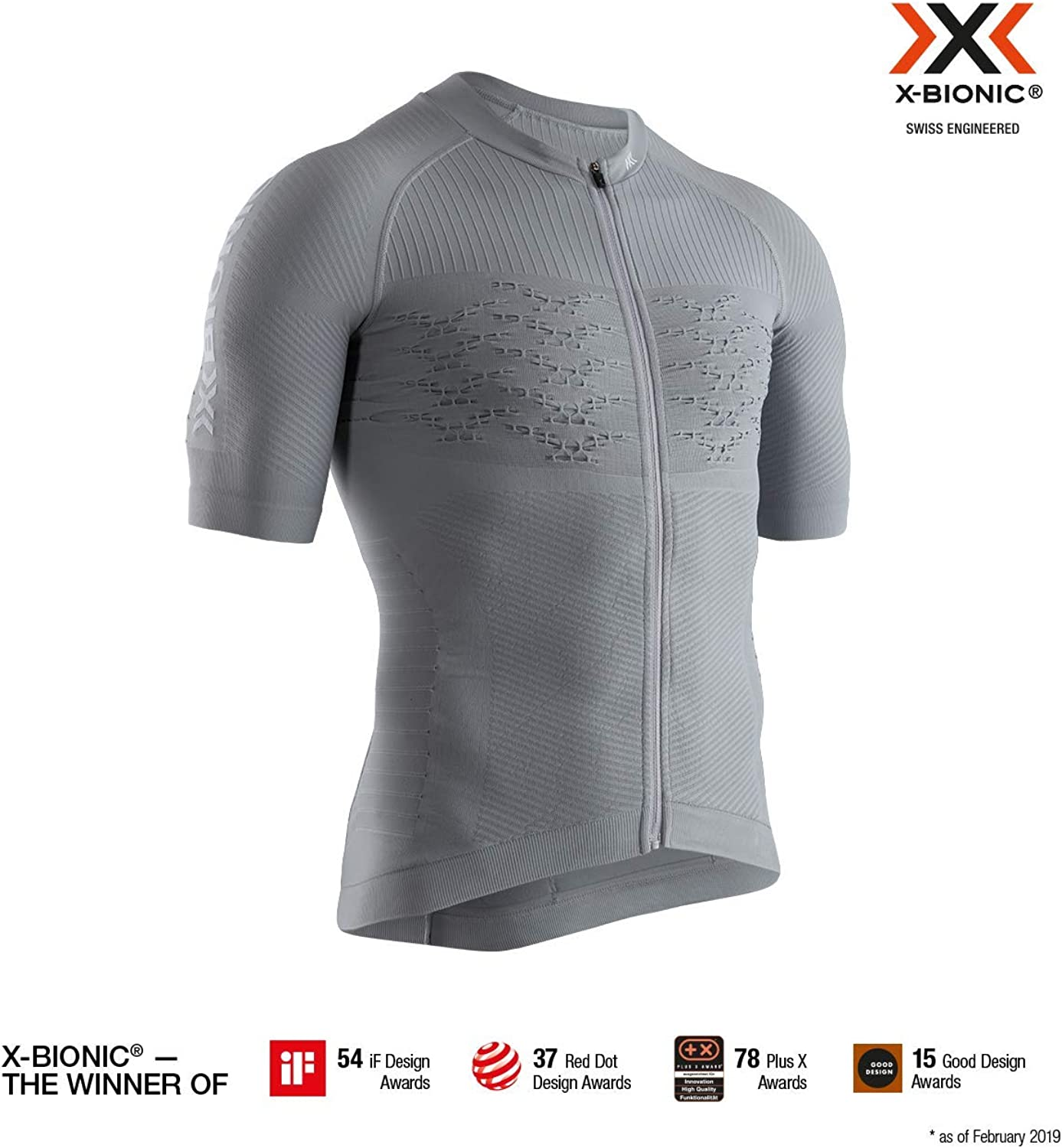 X-Bionic Men's Effektor 4.0 Bike Zip Short Sleeve Shirt