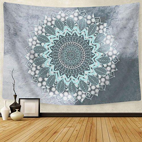 Alishomtll Mandala Wandteppich Wandbehang Tapisserie Indisch Yoga Hippie Tuch Böhmisch Wandtuch Wandkunst für Zimmer (150 x 130cm)