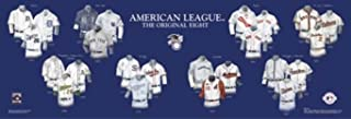 Framed and Matted History AL Original Eight Franchise Uniforms Print