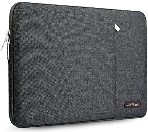 ZinMark Laptop Sleeve 13 Inch Compatible 2019 2018 MacBook Air 13 Inch Retina A1932, 13 Inch MacBook Pro A2159 A1989 A1706 A1708 | XPS 13, Water-Resistant Polyester Notebook Case, Dark Gray