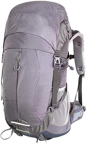 Nouvelle Version Sac à Dos 40L   50L Sac d'alpinisme imperméable Super léger Sac à Dos de Voyage de pêche avec Housse de Pluie (Couleur  B1, Taille  40L) (Couleuré   B1, Taille   40L)
