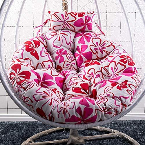 Cojines para silla con hamaca para colgar en forma de huevo, almohadilla gruesa de Papasan, cuna oscilante, almohadillas suaves y desmontables para silla para balcón interior, 105 cm (41 pulgadas)