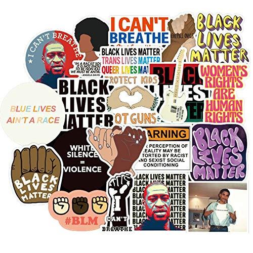 NANANA Black Lives Matter Pegatinas para papelería portátil Ps4 Maleta Skateboard Motocicleta Guitarras 100 Unids